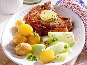 Karacho-Kotelett in Kohlrabi-Begleitung Rezept
