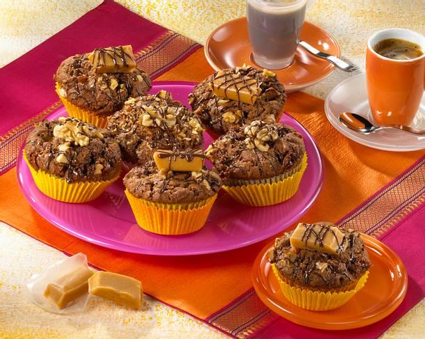 Karamell-Nuss-Muffins Rezept