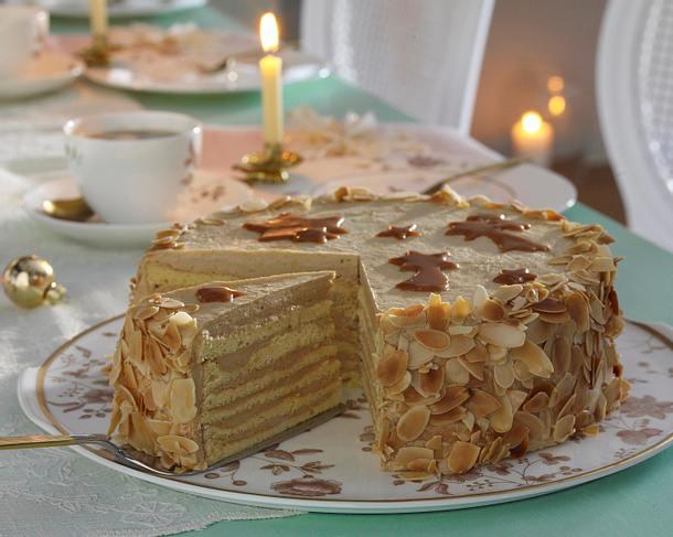 Karamell-Schichttorte Typ Dobos-Torte Rezept