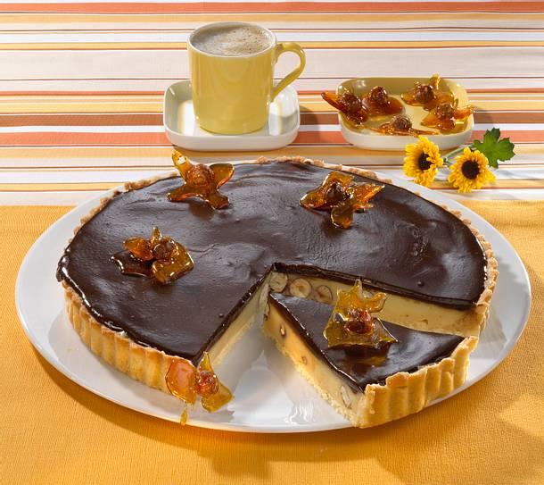 karamell schoko tarte rezept chefkoch rezepte auf kochen backen und schnelle gerichte. Black Bedroom Furniture Sets. Home Design Ideas