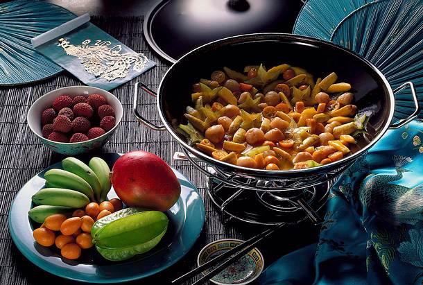 Karamellisierte Früchte Rezept