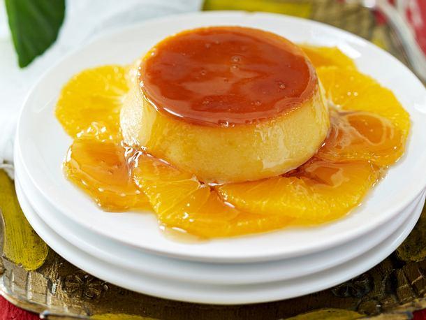 Karamellpudding mit Orangen (Flan con Naranja) Rezept