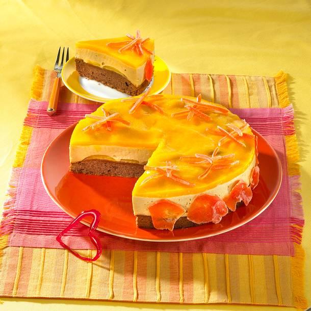 Karamelpudding-Mangokuchen Rezept