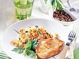 Karbonade mit Gemüserisotto (Diabetiker) Rezept