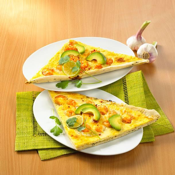 Karibische Garnelen-Pizza Rezept