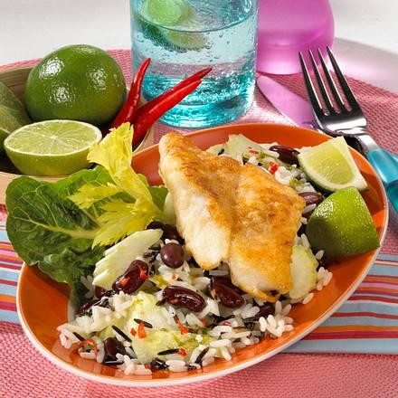 Karibischer Reissalat Rezept