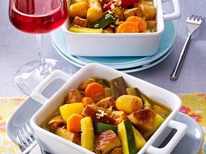 Karibisches Schweinefleisch-Curry mit Gemüse  Rezept