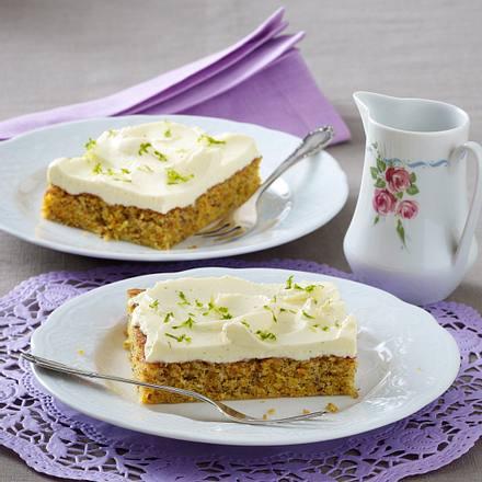 Karotten Nuss Kuchen Mit Vanille Frosting Rezept Lecker