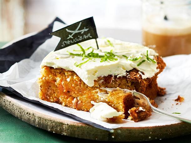 Karotten Walnuss Kuchen Mit Limonencreme Rezept Lecker