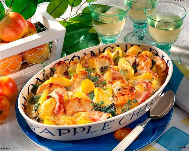 Kartoffel-Apfel-Porree-Auflauf Rezept