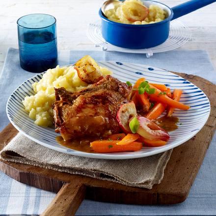 Kartoffel-Apfel-Püree zu geschmortem Kotelett Rezept