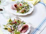 Kartoffel-Bohnen-Salat Hausfrauenart zu Matjes Rezept