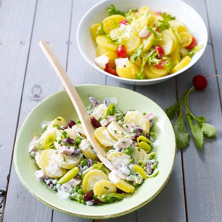 Kartoffel-Bohnen-Salat (Mann) Rezept