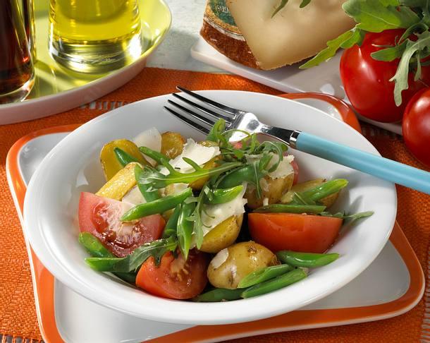Kartoffel-Bohnensalat Rezept