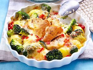 Kartoffel-Brokkoli-Gratin mit Putenmedaillons Rezept