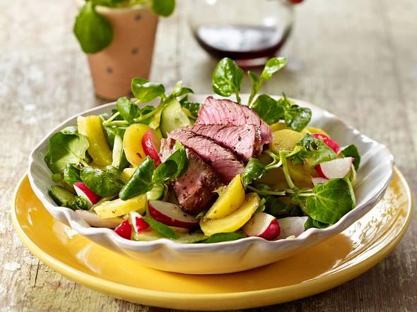 Kartoffel-Brunnenkresse-Salat Rezept