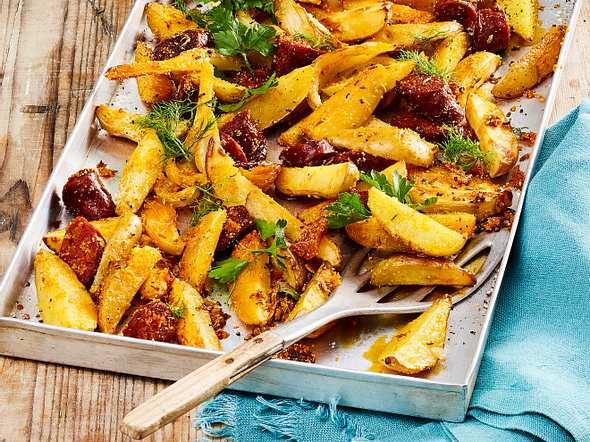 Kartoffel-Chorizo-Blech Rezept