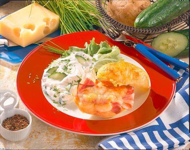 Kartoffel à Cordon bleu Rezept