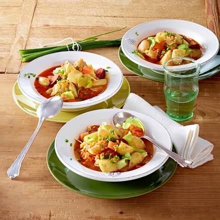 Kartoffel-Eintopf mit roten Linsen Rezept