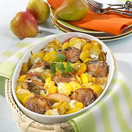 Kartoffel-Filet-Gratin mit Gorgonzola Rezept