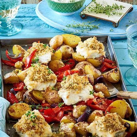 Kartoffel-Fisch-Gemüse vom Blech Rezept