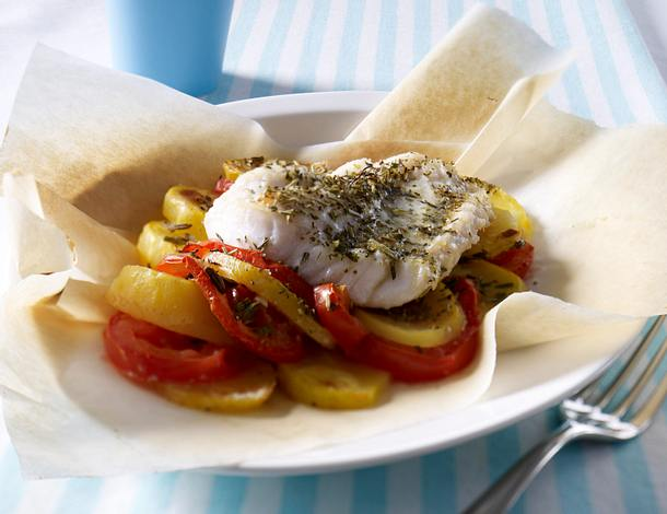 Kartoffel-Fischpäckchen Rezept
