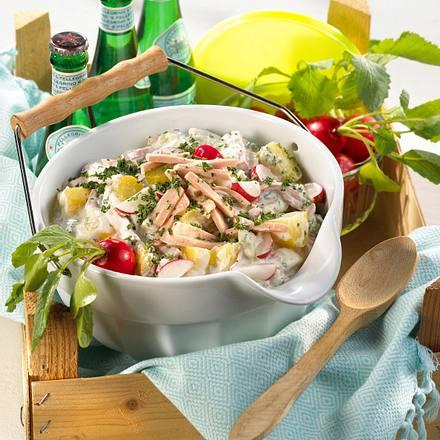 Kartoffel-Fleischsalat mit Kräutern Rezept