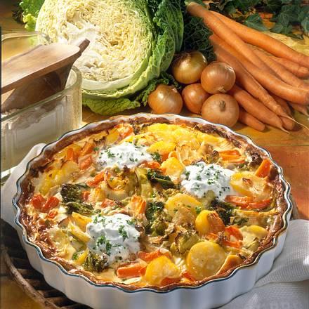 Kartoffel-Gemüse-Kuchen Rezept