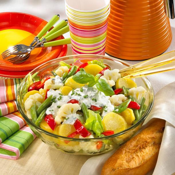 Kartoffel-Gemüse-Salat Rezept