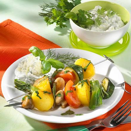 Kartoffel-Gemüse-Spieße Rezept