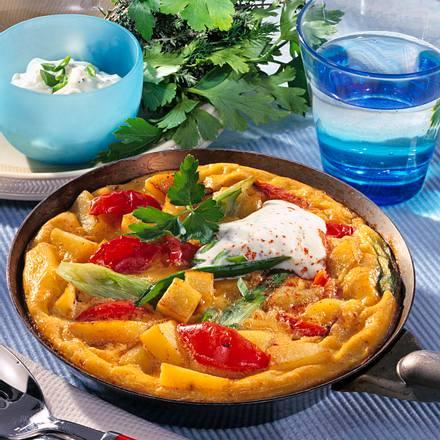 Kartoffel-Gemüse-Tortilla (Diabetiker) Rezept