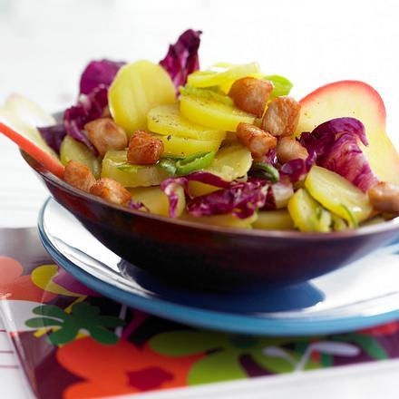 Kartoffel-Gemüsesalat mit Hähnchensticks Rezept