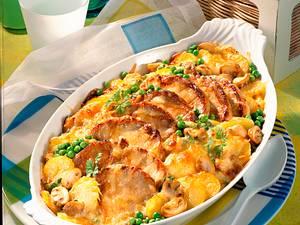 Kartoffel-Gratin mit Schweinesteaks Rezept