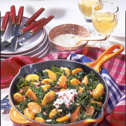 Kartoffel-Grünkohl-Pfanne Rezept