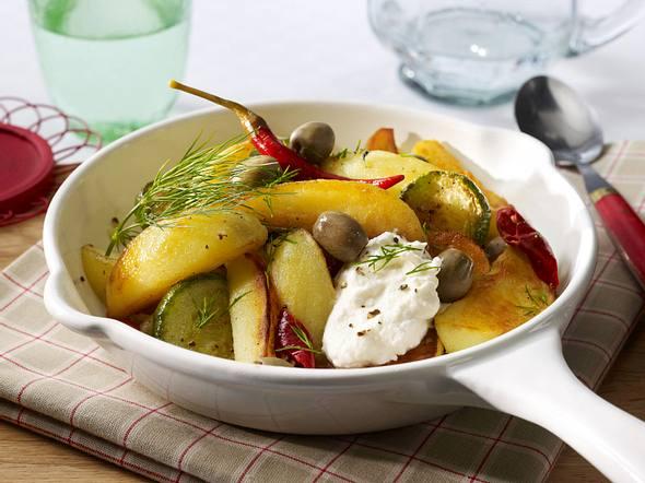 Kartoffel-Gurken-Pfanne Rezept