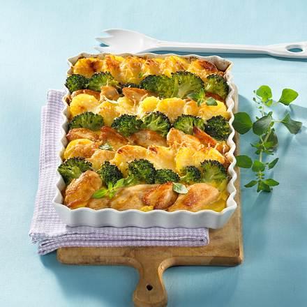 Kartoffel-Hähnchen-Auflauf mit Broccoli Rezept
