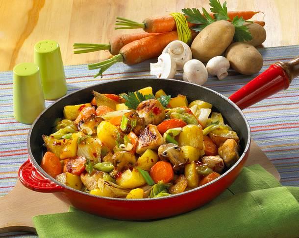 Kartoffel-Hähnchen-Pfanne Rezept