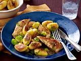 Kartoffel-Hähnchen-Pfanne mit Rosenkohl Rezept