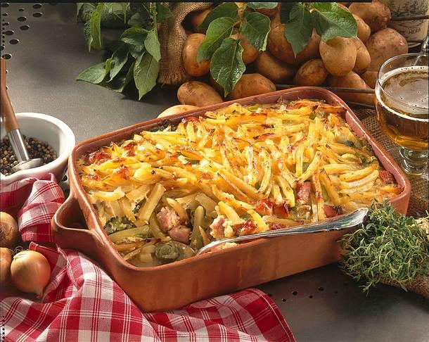 Kartoffel-Kasseler-Auflauf Rezept