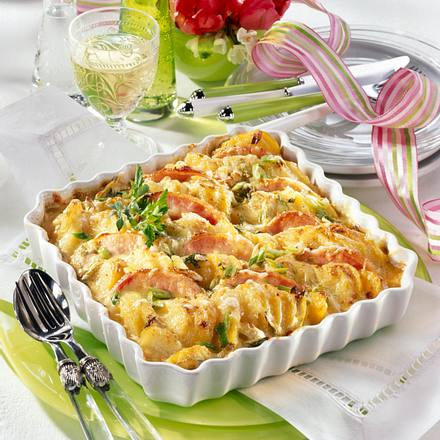 Kartoffel-Kasseler-Gratin Rezept