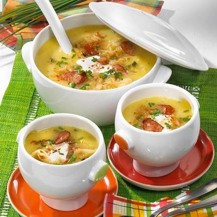 kartoffel kraut suppe rezept chefkoch rezepte auf kochen backen und schnelle gerichte. Black Bedroom Furniture Sets. Home Design Ideas
