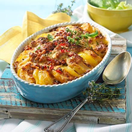 Kartoffel-Mett-Auflauf (kalorienreduziert) Rezept