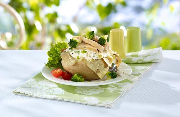 Kartoffel mit Hühnchen und Brokkoli Rezept