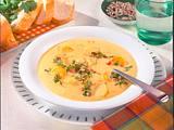 Kartoffel-Möhrensuppe mit Speck und Sonnenblumenkernen Rezept