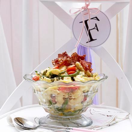 Kartoffel-Nudel-Salat mit Crème fraîche Rezept