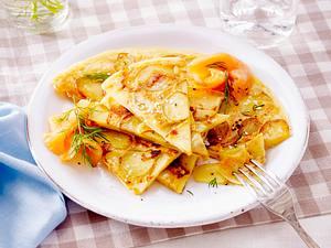 Kartoffel-Pfannkuchen mit Räucherlachs Rezept