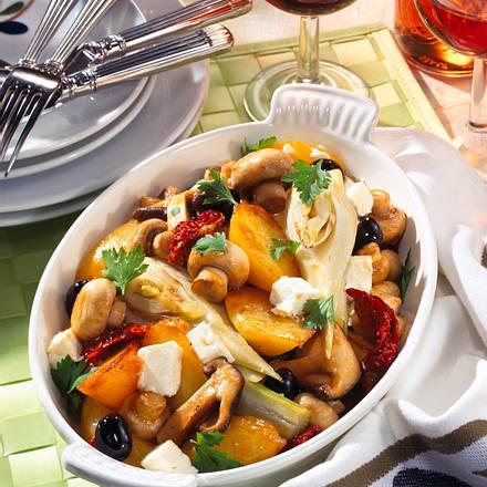 Kartoffel-Pilz-Pfanne mit Feta Rezept