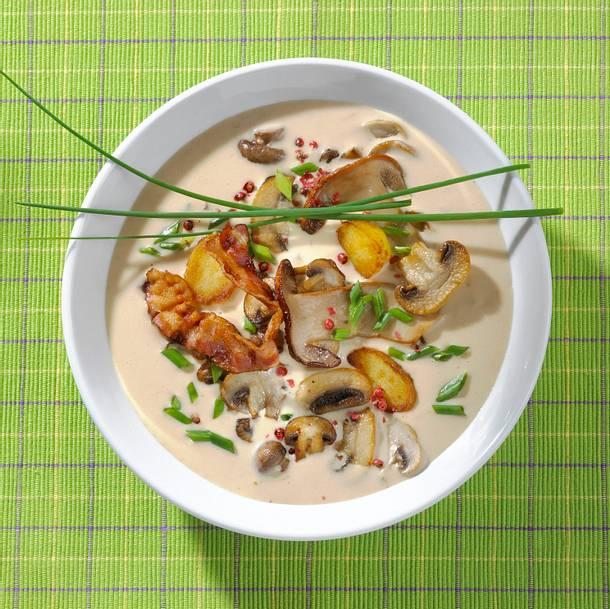 Kartoffel-Pilzeintopf mit Speck Rezept