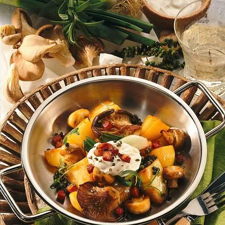 Kartoffel-Pilzpfanne Rezept