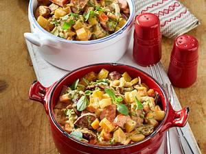 Kartoffel-Ragout mit Kabanossi Rezept